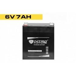 Batería de gel de plomo de Nitro  6V 7Ah / 20Hr NM6-7