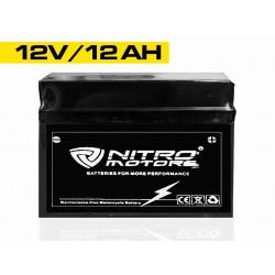 Batería de gel de plomo de Nitro Motors 12V 12Ah 6-DZM-12
